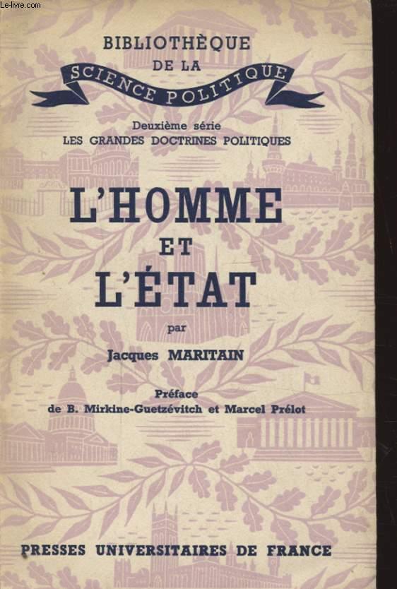 L HOMME ET L ETAT