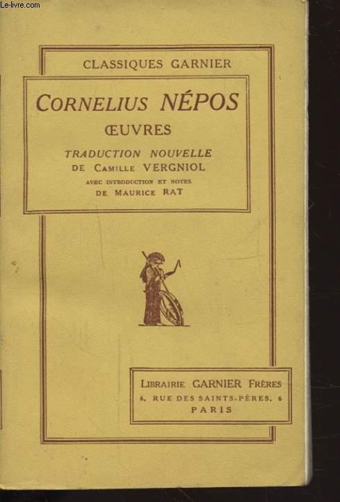 CORNELIUS NEPOS OEUUVRES