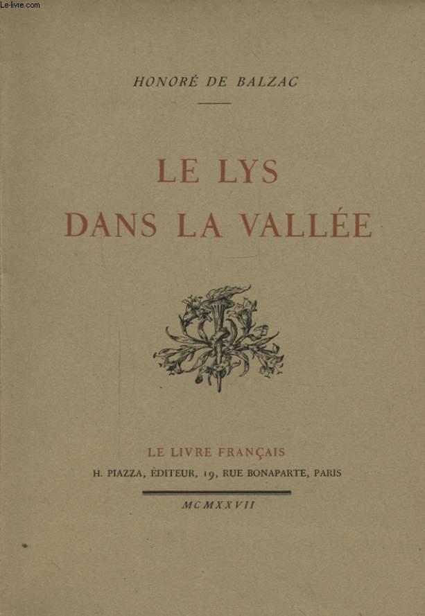 LE LYS DANS LA VALLEE