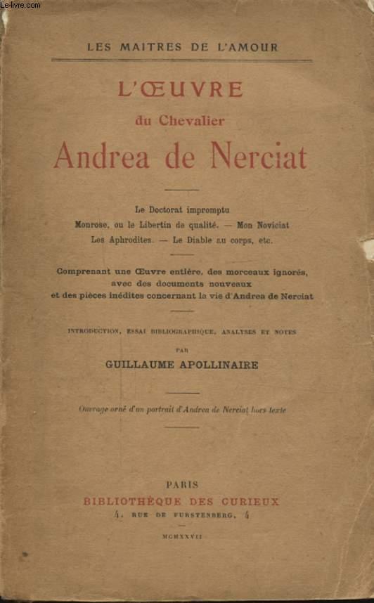 L OEUVRE DU CHEVALIER ANDREA DE NERCIAT