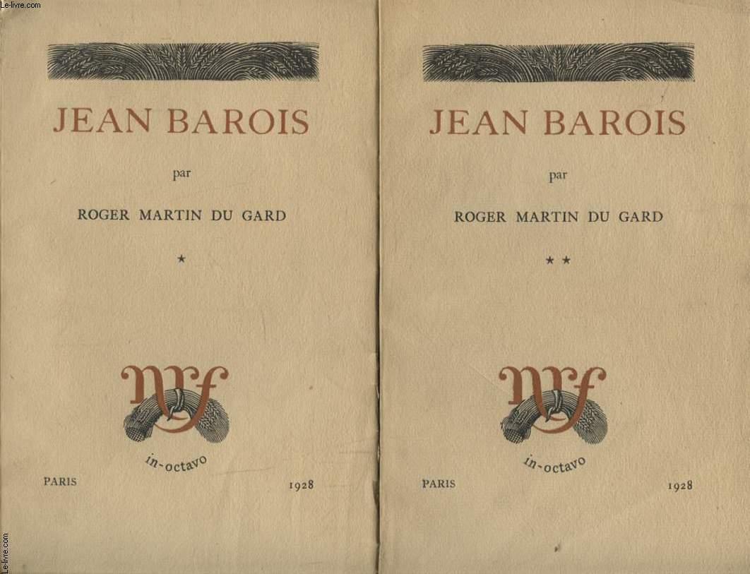 JEAN BAROIS EN 2 TOMES