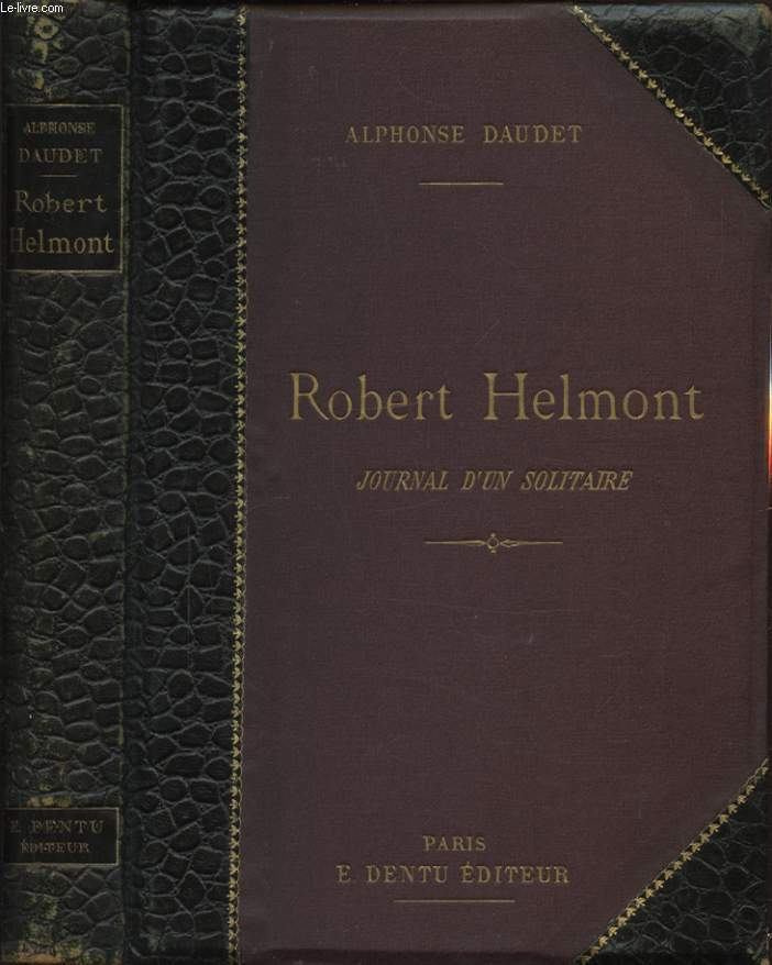 ROBERT HELMONT JOURNAL D UN SOLITAIRE