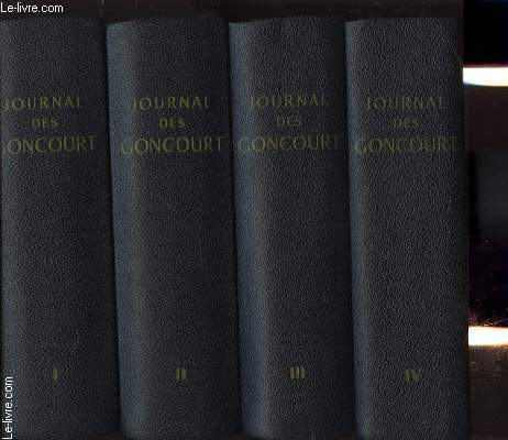 JOURNAL MEMOIRES DE LA VIE LITTERAIRES 1851-1863 EN 4 TOMES