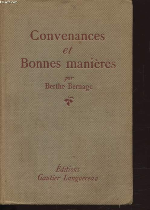 CONVENANCE ET BONNES MANIERES
