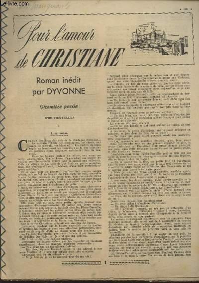 POUR L AMOUR DE CHRISTIANE