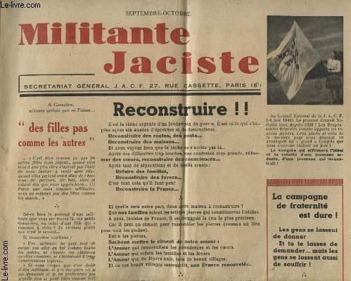 MILITANTE JACISTE SEPTEMBRE OCTOBRE : RECONSTRUIRE