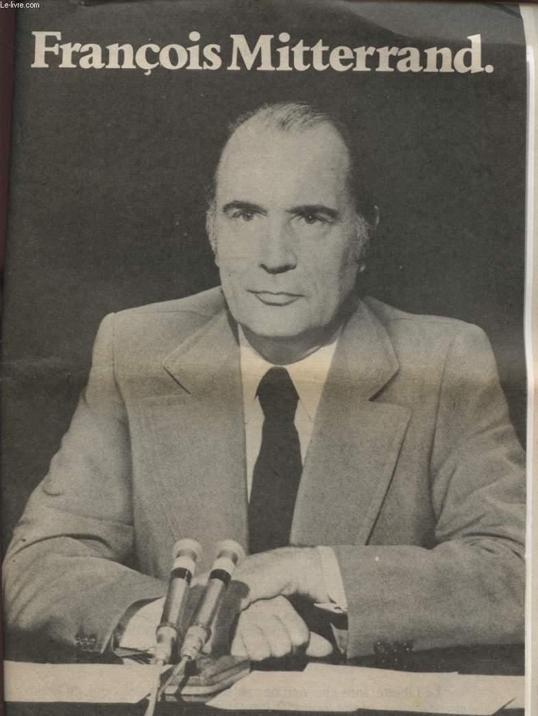 FRANCOIS MITTERAND ELECTION PRESIDENTIELLE 1er TOUR DE SCRUTIN 26 AVRIL 1981