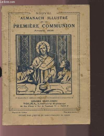 NOUVEL ALMANACH ILLUSTRE DE LA PREMIERE COMMUNION - ANNEE 1935.