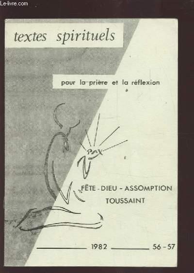TEXTES SPIRITUELS - POUR LA PRIERE ET LA REFLEXION - FETE / DIEU / ASSOMPTION / TOUSSAINT.