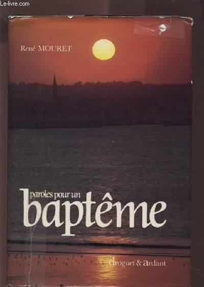 PAROLES POUR UN BAPTEME.