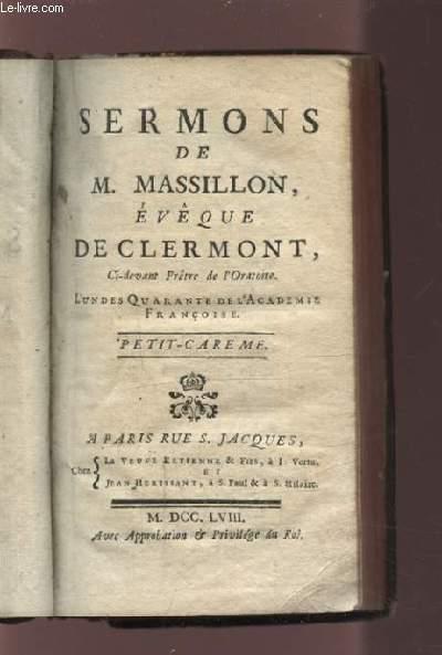 SERMON DE M. MASSILLON - PETIT CAREME.