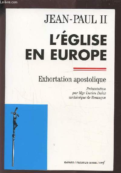 L'EGLISE EN EUROPE - EXHORTATION APOSTOLIQUE.