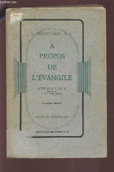 A PROPOS DE L'EVANGILE.