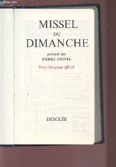 MISSEL DU DIMANCHE - TEXTE LITURGIQUE OFFICIEL.