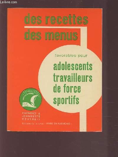 Des Recettes Des Menus Favorables Pour Adolescents Travailleurs De Force Sportifs