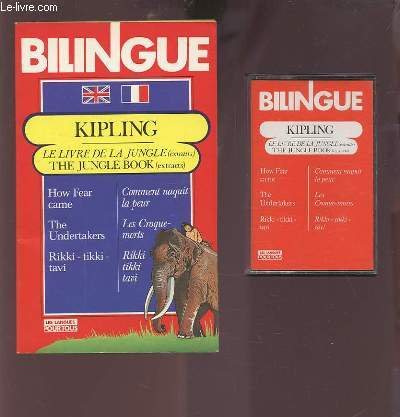 THE JUNGLE BOOK - LE LIVRE DE LA JUNGLE - OUVRAGE BILINGUE AVEC CASETTE.