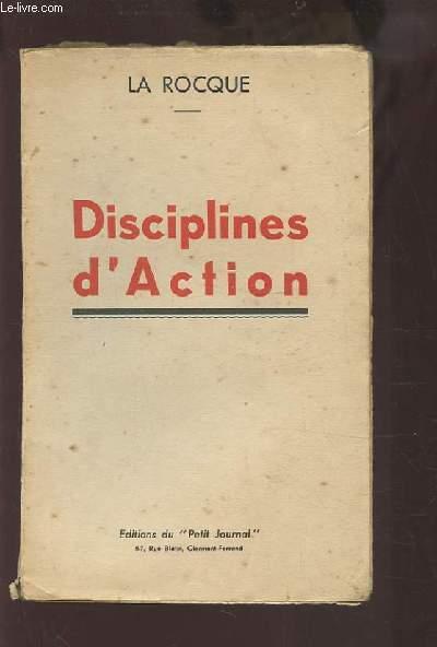 DISCIPLINES D'ACTION.