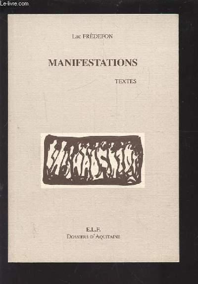 MANIFESTATIONS - TEXTES.