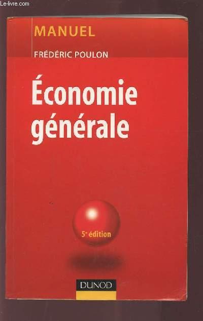 ECONOMIE GENERALE - 5° EDITION.