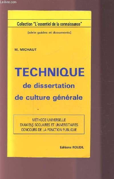 Dissertation culture gnrale mthode