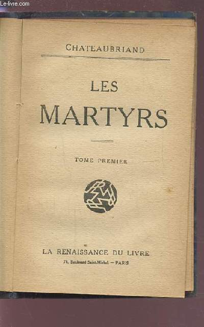 LES MARTYRS - TOME PREMIER.