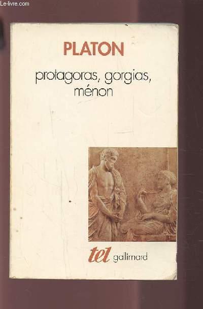 PROTAGORA GORGIAS MENON.