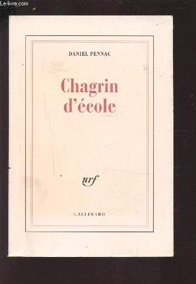 CHAGRIN D'ECOLE.