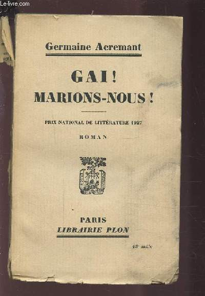 GAI ! MARIONS-NOUS !.