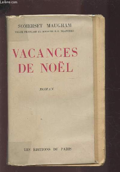VACANCES DE NOEL.