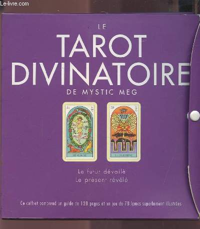 34e030f610573d Achetez cet article issu de nos LivresLe tarot divinatoire de mystic meg -  le futur devoile   le present revele - coffret contenant un guide et un jeu  de 78 ...