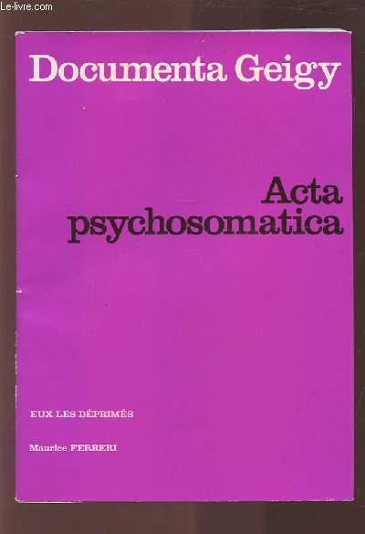 DOCUMENTA GEIGY - ACTA PSYCHOSOMATICA.
