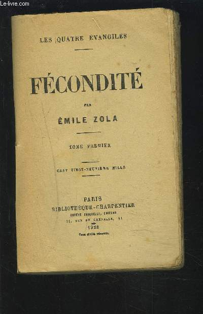 FECONDITE - TOME PREMIER.