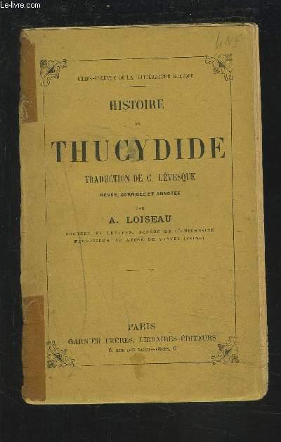 HISTOIRE DE THUCYDIDE.