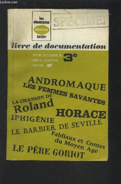 LIVRE DE DOCUMENTATION POUR LA CLASSE DE 3°.