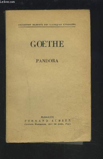 PANDORA - FRANCAIS/ANGLAIS.