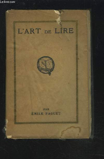 L'ART DE LIRE.