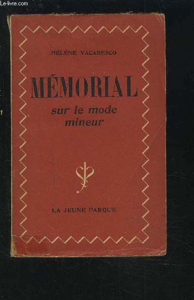 MEMORIAL SUR LE MODE MONEUR.