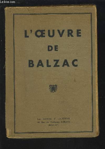 L'OEUVRE DE BALZAC.