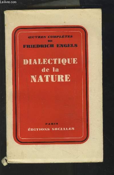 DIALECTIQUE DE LA NATURE.