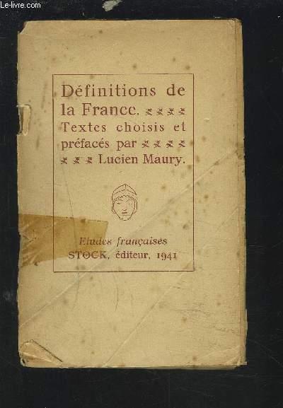 DEFINITIONS DE LA FRANCE.