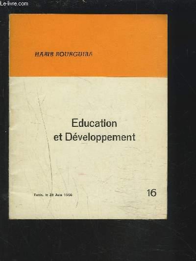 EDUCATION ET DEVELOPPEMENT - N°16.