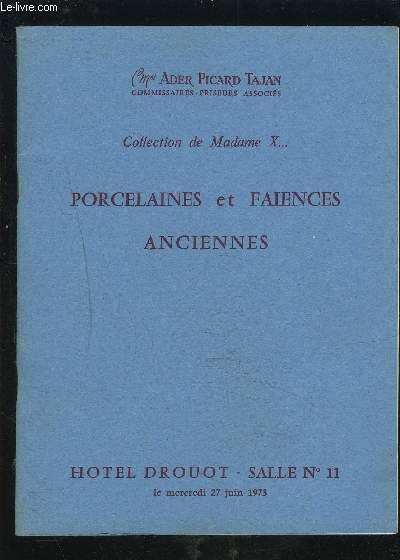 CATALOGUE DE VENTE AUX ENCHERES - PORCELAINES ET FAIENCES ANCIENNES - HOTEL DROUOT.