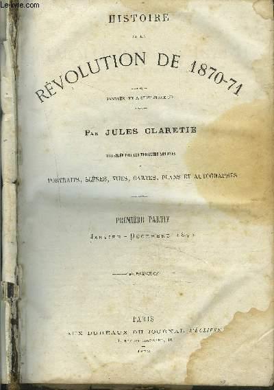 HISTOIRE DE LA REVOLUTION DE 1870-71.