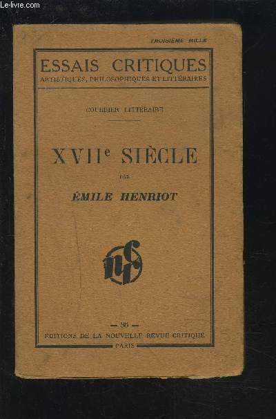 XVII° SIECLE - ESSAIS CRITIQUES - 36.