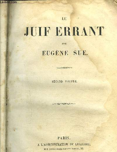 LE JUIF ERRANT / SECOND VOLUME
