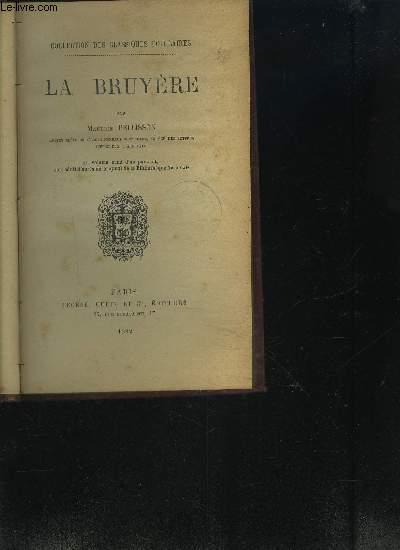 LA BRUYERE - COLLECTION DES CLASSIQUES POPULAIRES