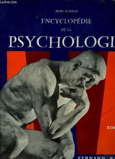 ENCYCLOPEDIE DE LA PSYCHOLOGIE - TOME 1