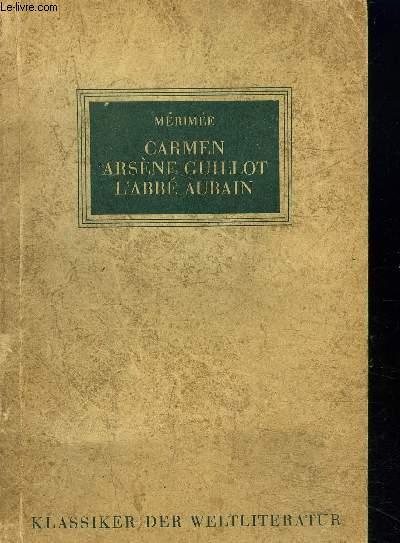 CARMEN / GUILLOT ARSENE / L'ABBE AUBAIN