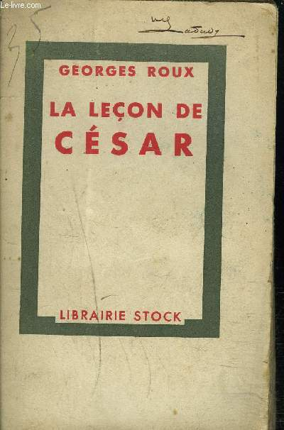 LA LECON DE CESAR.