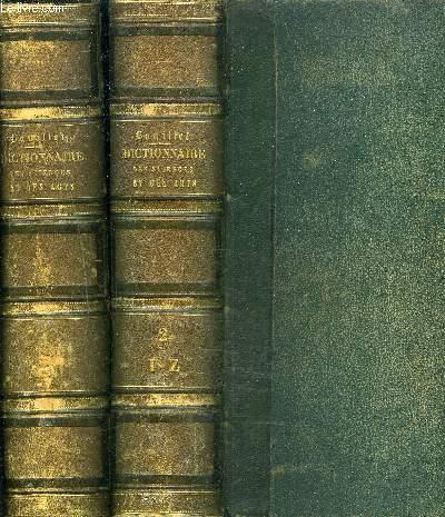 DICTIONNAIRE UNIVERSEL DES SCIENCES DES LETTRES ET DES ARTS / EN DEUX TOMES / TOMES 1 + 2 / 2E EDITION.